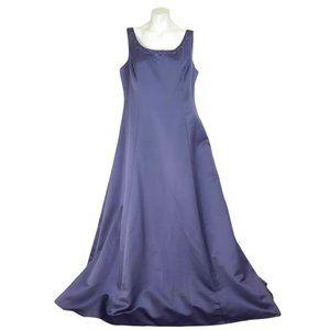David's Bridal Lilac Beaded Formal Satin Maxi Gown